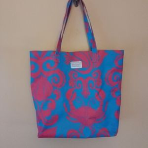 Lilly Pulitzer for Estee Lauder pink and blue tote